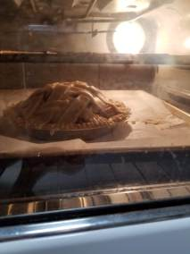 Apple pie in the oven