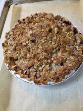 with walnut crumb
