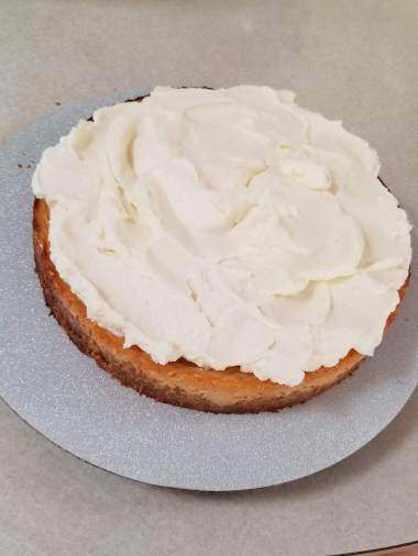 lilikoi coconut pie with whipped cream
