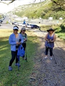 Walking ladies at Moanaloa Vally