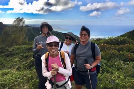 Hiking at Hawaii Loa